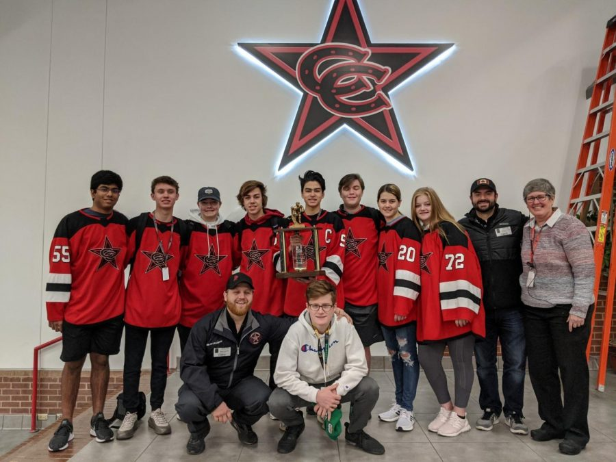 The Coppell hockey team won the High School Division 2A State Championship at the Children's Health StarCenter in Mansfield on Sunday.