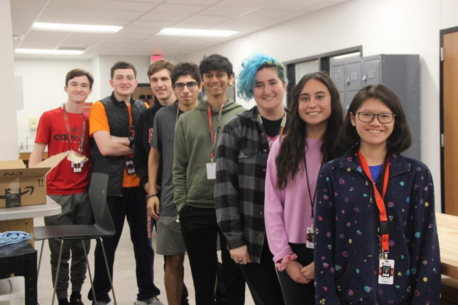 Coppell High School students juniors Calen Halcom, Marcos Morales-Martinez, Matthew O'Quinn, Gregory Sabancuyan, Akash Vijay, Abigail Simon, Fiona Lopez and LeeAn Zhong were selected to participate in the High School Aerospace Scholars. Not pictured is junior Hannah George, who was also selected, and STEM teacher Pilar Castro-Zena. They will do a 16-week online interactive course of NASA activities related to space exploration, earth science, technology, mathematics and aeronautics.