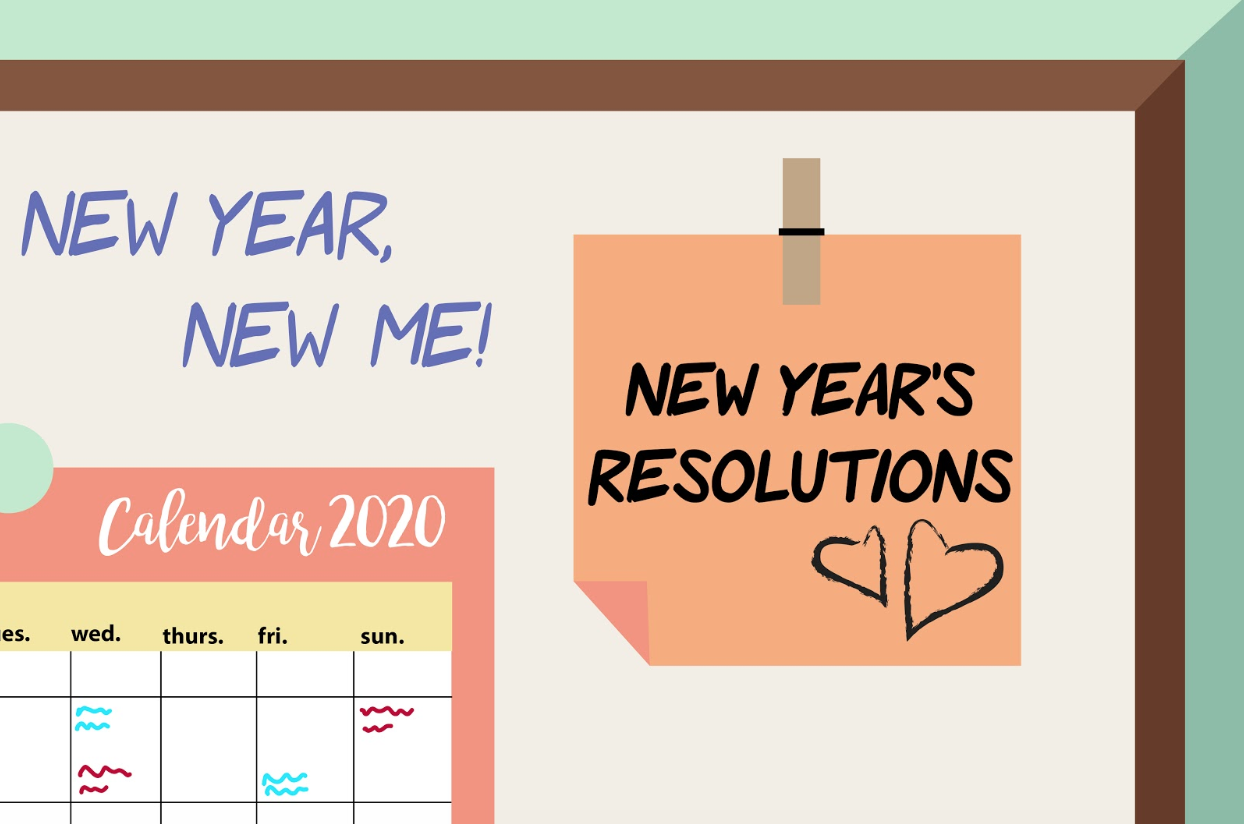 New Years festivities date backs to a Babylonian celebration. The Sidekick staff writer Laasya Achanta discusses the first instances of New Year's resolutions. Graphic by Shriya Vanparia.