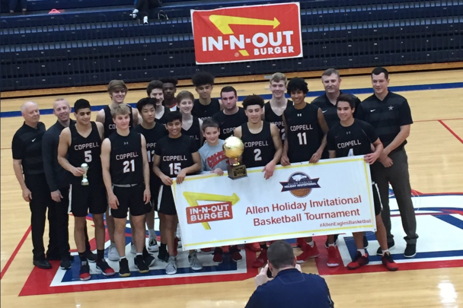 The Coppell basketball team placed third at the Allen Holiday Invitational Basketball Tournament from Dec. 26-30 at the Allen High School Gymnasium. The Cowboys play Irving tomorrow at 1 p.m. in the CHS Arena.