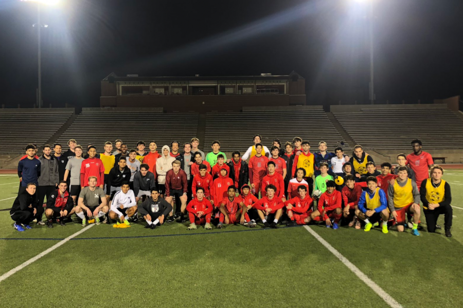 The Coppell boys soccer team hosted its annual alumni match on Dec. 20 at Buddy Echols Field, in which graduates return to play against the current varsity team. The Cowboys travel to Austin for the Austin Lakes Elite Showcase from Jan. 9-11.