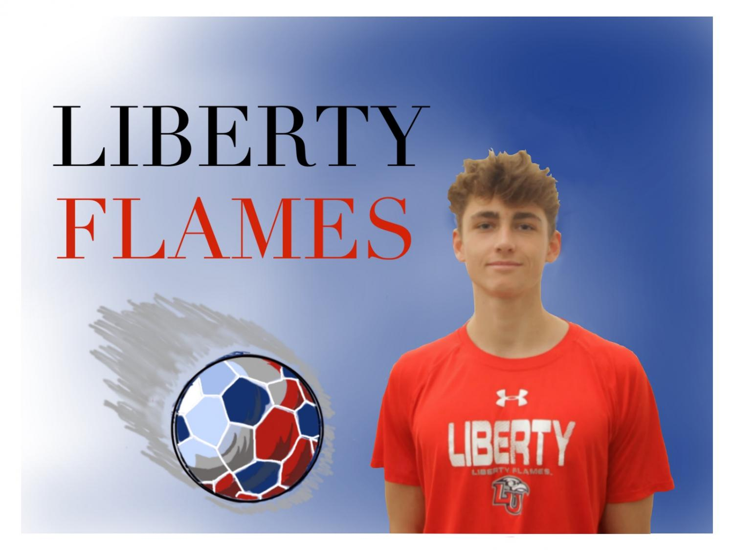 Coppell junior defender Skyler Stricker verbally committed to Liberty University in Virginia on Dec. 30. Stricker plans to major in civil engineering. Photo illustration by Anthony Onalaja and Laasya Achanta.