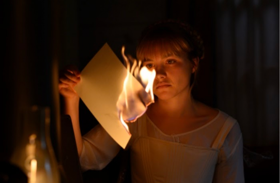 Amy March (played by Florence Pugh) burns her sister Jo March's novel manuscript in the 2019 film adaption of Little Women. The film has repeatedly been called the best version of the story and was nominated for six Oscars. Photo courtesy Sony Pictures.