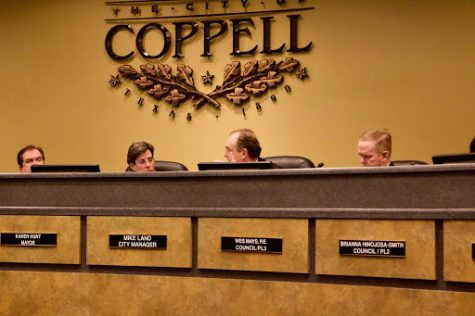 Coppell City Council held a meeting Tuesday night at the Coppell City Hall. The council discussed Coppell's future budgeting and a future sales taxes on various businesses in Coppell.