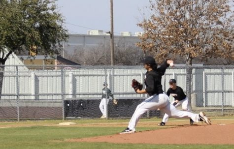 Coppell junior and pitcher David Jeon pitched during the scrimmage against Birdville on Feb. 15 at the Coppell ISD Baseball Complex. Jeon verbally committed to playing baseball at Rice University.