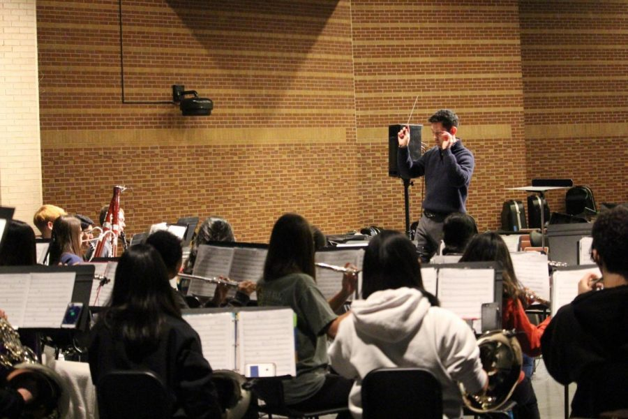 Coppell band rehearses as a full band before the first-ever Coppell High School Ensemble Festival. The festival is at CHS from 5-9 p.m. tonight.
