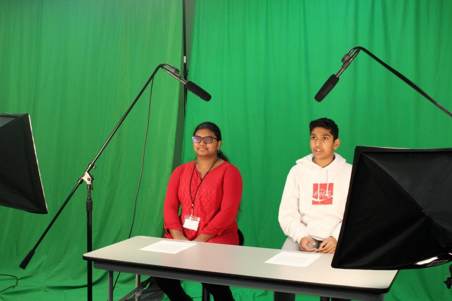 Coppell Middle School East eighth graders  Ana Jesayen and Abhinav Ala share daily announcements via live broadcast system during second period. The Sidekick executive editorial page editor Claire Clements thinks Coppell High School should have actual announcements rather than being recommended to visit the Coppell High School website.