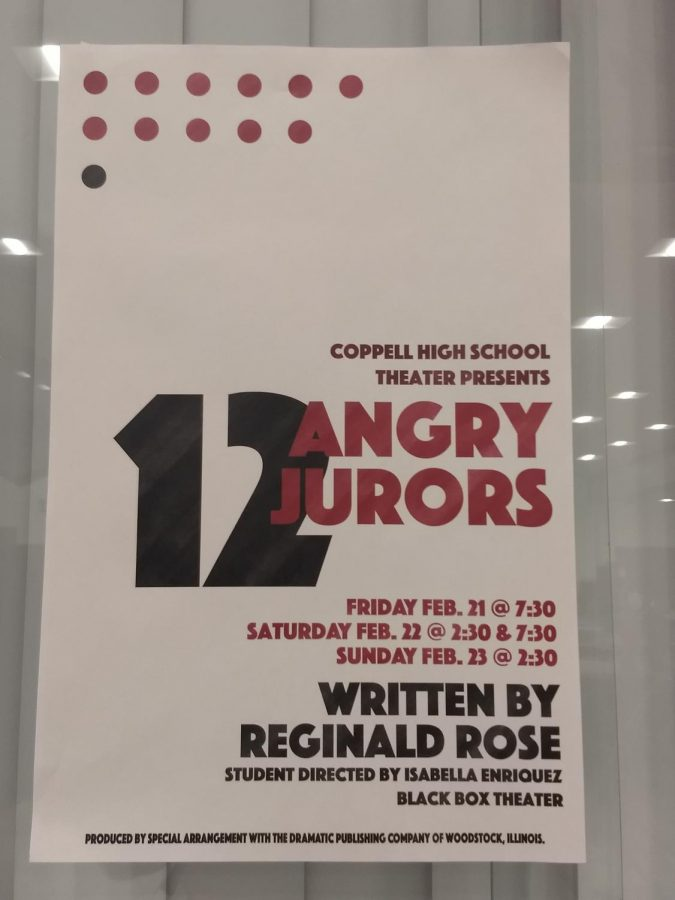Coppell+High+School+Theater+presents+%E2%80%9C12+Angry+Jurors%E2%80%9D%2C+a+play+directed+by+student+director+Isabella+Enriquez%2C+in+the+CHS+Black+Box+on+Friday+and+Saturday+7%3A30+p.m.+and+Sunday+at+2%3A30+p.m.+Tickets+are+available+for+purchase+at+the+door+and+on+the+CHS+Theater+website.+