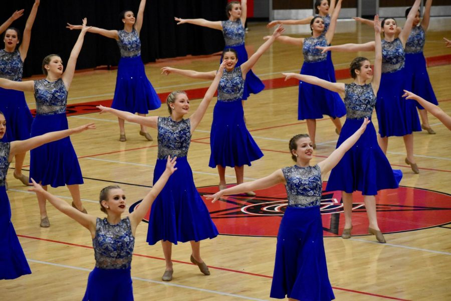 The+Coppell+High+School+Lariettes+perform+their+team+lyrical+dance+at+the+Lariette+Showoffs+on+Feb.+12+in+the+CHS+Arena.+The+Lariettes+hosted+their+annual+showoffs+performance+as+a+preview+to+their+upcoming+competition+season.