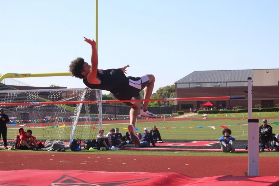 Coppell sophomore Anthony Black competes in the high jump for Coppell's track team at Buddy Echols Field last season. Coppell hosts the Coppell Relays tomorrow at Buddy Echols Field at 8 a.m.
