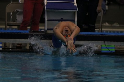 Swim team faces district giants at regional competition