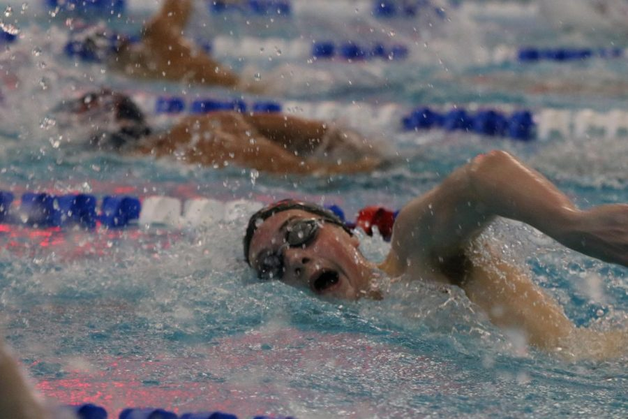 Coppell+junior+Cole+Tramel+competes+in+the+boys+500-yard+freestyle+consolation+finals+at+the+Class+6A+Region+II+Swimming+and+Diving+Meet+on+Saturday+at+the+Lewisville+ISD+Westside+Aquatic+Center.+Tramel+currently+holds+three+school+records%2C+for+the+200-yard+freestyle%2C+the+500-yard+freestyle+and+the+400-yard+freestyle+relay.+