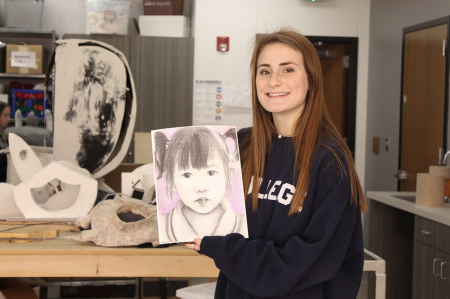 Coppell High School sophomore Alex Bowden drew a portrait of a child from Malaysia,  CHS art teacher David Bearden selected Bowden and nine other of his art students for the Memory Project. This non-profit organization is for students to create a portrait of a less fortunate child.