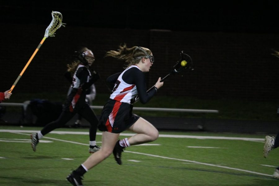 New+Tech+%40+Coppell+sophomore+attacker+Finley+Tipton+cradles+the+ball+last+night+against+Allen+at+Coppell+Middle+School+North.+The+Cowgirls+face+Flower+Mound+at+CMS+North+tomorrow+at+11+a.m.+