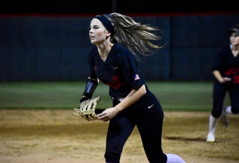 Coppell senior first baseman Olivia Reed runs to catch during the game against Keller at Colleyville Heritage High School last season. The Cowgirls play their first home game tomorrow at 7 p.m. at the Coppell ISD Softball Complex against Mansfield.