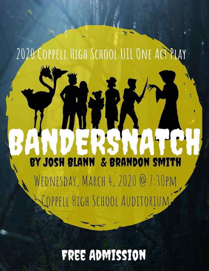 "Coppell High School Theatre students are performing ""Bandersnatch"", a One-Act Play, in preparation for their University Interscholastic League (UIL) performance. The free performance is tomorrow at 7:30 p.m. in the CHS Auditorium. Photo courtesy Coppell High School Theatre."