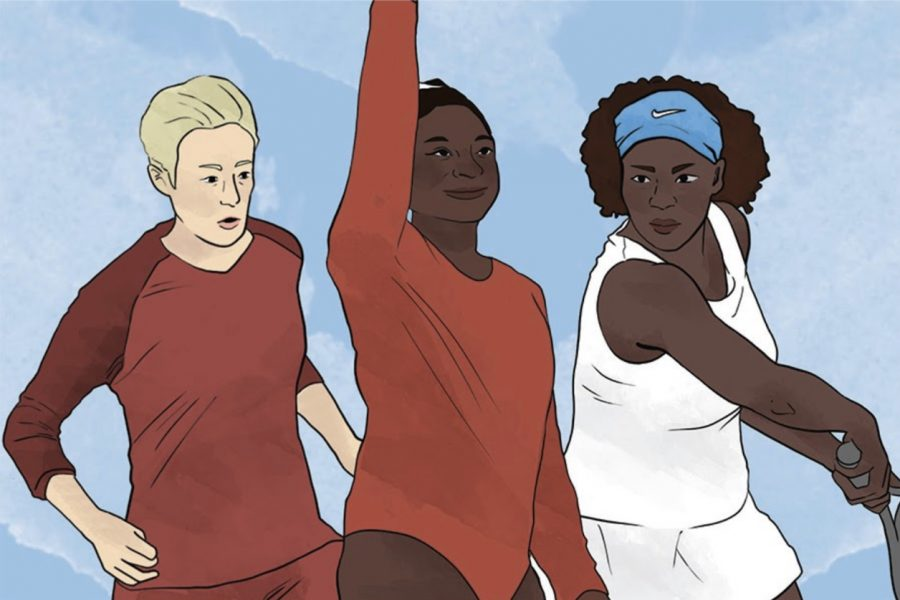 Megan Rapinoe, Simone Biles and Serena Williams are all examples of famous female athletes who have helped create a presence of women in sports. The Sidekick staff writer Nanette Pottoore thinks women-centric sports receive less attention than men-centric sports and investigates the reasoning behind the fact.