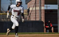 Coppell junior shortstop Sydney Ingle runs to first base against Cedar Hill on March 7 at the Coppell ISD Softball Complex. Ingle was nominated as VYPE DFW 2020 Preseason Softball Player of the Year.