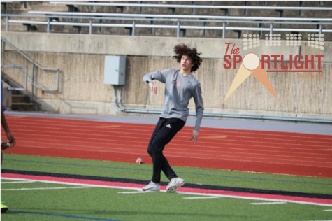 Coppell sophomore JV forward Ethan Frieder shoots during practice on Tuesday at Buddy Echols Field. Frieder is a captain for the JV1 team and is also talented at table tennis.