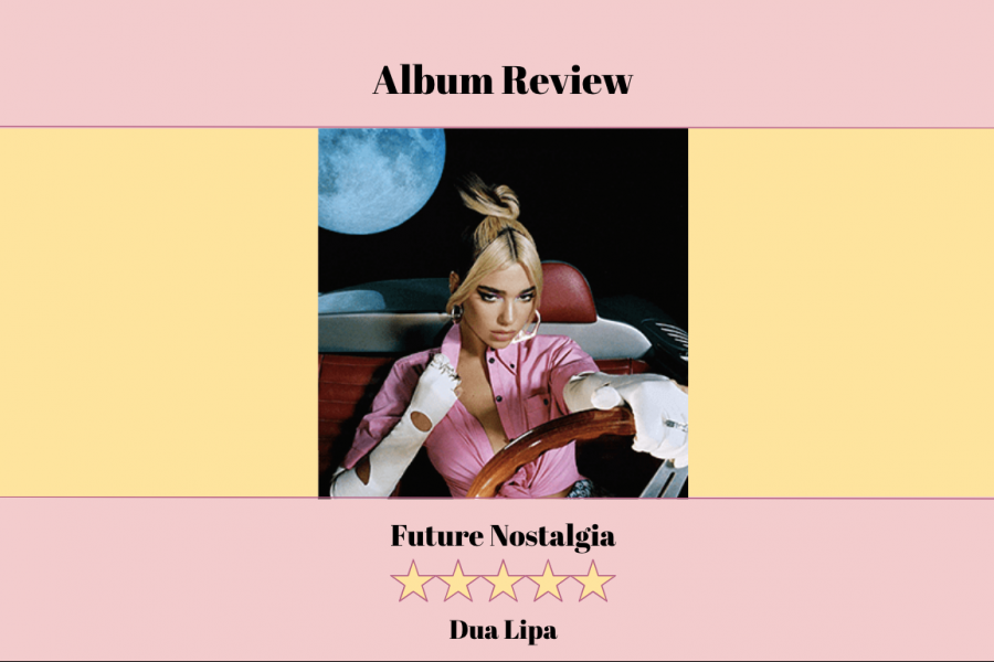 "Dua Lipa released her sophomore album, Future Nostalgia, on Friday. A combination of both new and old sounds, it was preceded by lead single ""Don't Start Now"", her highest charting song in the U.S. to date."