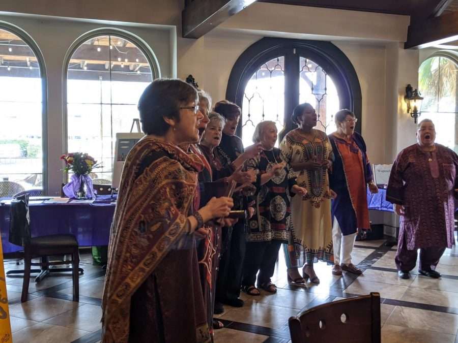 MosaicSong, a Dallas female ensemble dedicated to singing culturally diverse music to uplift audiences, perform at a Women's Day event at Andalous Mediterranean Buffet in Richardson on March 8. The event commemorated International Women's Day and Women's History Month.
