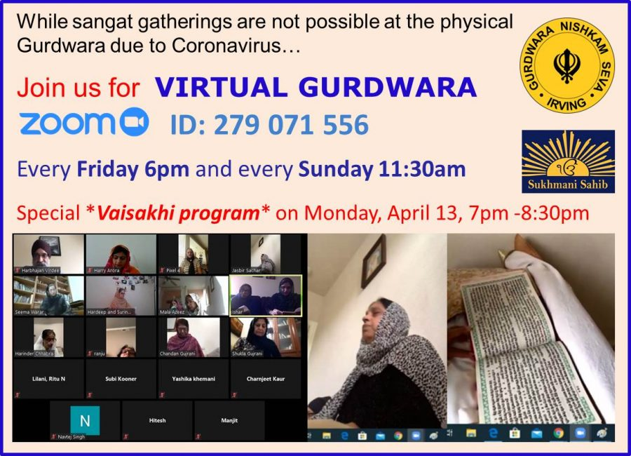 Gurdwara Nishkam Seva has switched to a virtual gurdwara, where attendees read Sikh scriptures and discuss. While a virtual gurdwara does not allow for the congregational aspects of the Sikh faith, people have joined the sessions from Canada and India as well. Photo courtesy Harbhajan Singh