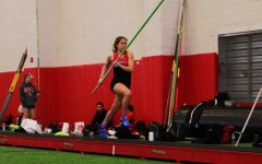 Coppell senior Sidekick staff writer Sydney Rowe sprints down the runway on March 2, 2019 in the CHS Field House. Rowe reflects on her last high school pole vaulting season and how the coronavirus is affecting high school and collegiate sports.