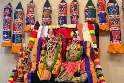 Rama Navami commemorates the birth of the Hindu god Rama. Sri Hari Hara Peetham celebrated Rama Navami virtually through a Facebook live stream this year, with preparation for the live stream beginning three days before the actual festival. Photo courtesy Sri Hari Hara Peetham