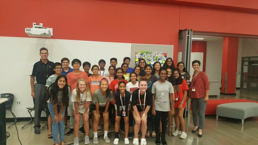 CHS9 students selected as members of the Chick-fil-A Leader Academy pose for a picture after their kick-off meeting on Sept. 26. The Chick-fil-A Leader Academy fosters leadership skills in high school students through Leader Labs and service projects.