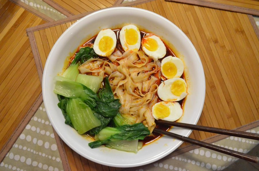 This easy soup noodle dish offers a warm spice on a cozy-night in. The most technical step of the entire meal is simply combining all the ingredients in a bowl, but this simple recipe brings the authentic taste of Chinese cuisine wherever you are.