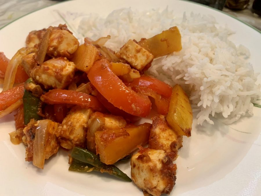 Chili paneer is an Indo-Chinese favorite. This recipe borrows characteristics of South Indian cooking to yield a dish that is packed with flavor and spice. Enjoy with plain white rice for a complete meal.
