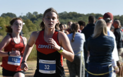 New Tech High @ Coppell senior Taylor Peltier finishes at the District 6-6A cross country meet on Oct. 18 at North Lake Park in Denton. Peltier committed to the State University of New York Environmental Science and Forestry (SUNY ESF) for cross country.