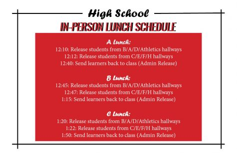 Coppell ISD students who chose in-person learning are returning to school tomorrow. High school students will follow a staggered lunch schedule depending on which class they are in.
