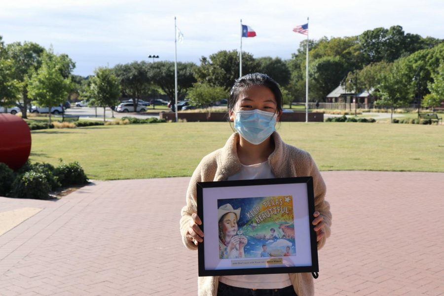 Coppell High School sophomore Ashley Zhang was chosen as one of 14 Texan students who will have their art featured on the 2021 Don't Mess with Texas calendar. Texas artists from kindergarten to 12th grade compete in the statewide art contest.