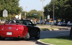 Coppell High School traffic intensifies after school on Sept. 30. The environmental benefits of COVID-19 are being reversed as school and work starts.