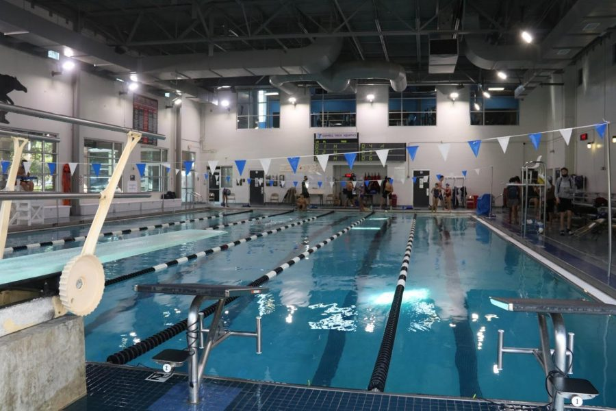 The Coppell swimming & diving team hosted their first meet of the season, Trinity Dual, on Oct. 9 at the YMCA. Swimming with the home advantage was unexpected for the Cowboys, as the YMCA is a smaller pool.