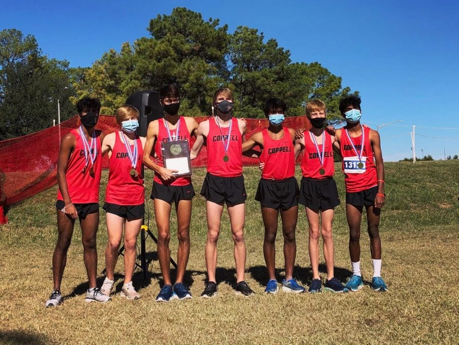 The Coppell boys cross country team won the District 6-6A championship on Friday at North Lakes Park in Denton. The boys advance to the Class 6A Region I Meet on Nov. 10, while the Coppell girls finished fourth.