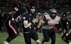 Coppell senior quarterback Ryan Walker looks for an open teammate against Flower Mound Marcus on Friday at Buddy Echols Field. The Cowboys lost to the Marauders, 38-24.