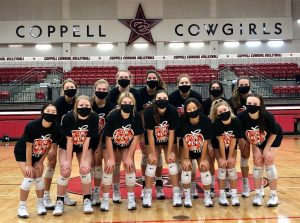 Cowgirl volleyball swept Lewisville on Tuesday night at its final home match of the season. Celebrating its Senior Night, the Cowgirls also honored its seniors.