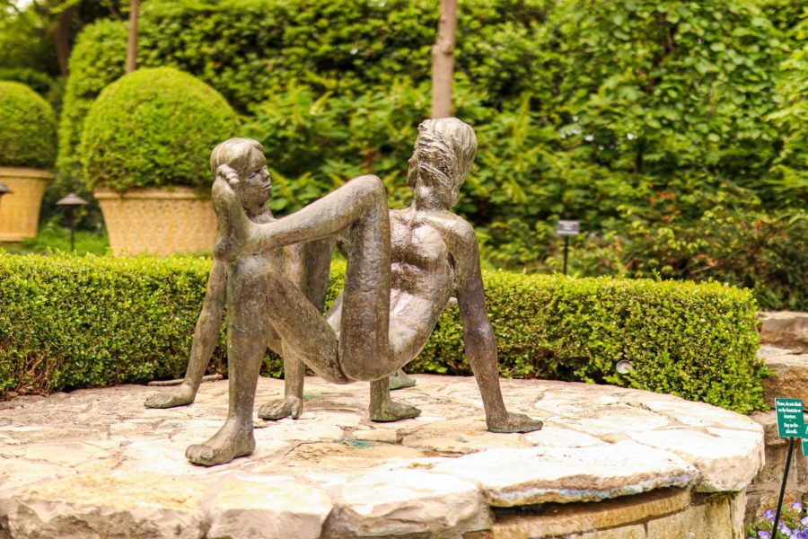 A sculpture sits on display at the Dallas Arboretum and Botanical Garden on Sunday. The arboretum has a variety of events such as Artscape, Summer of Sculpture and Cool Thursdays Concert Series.
