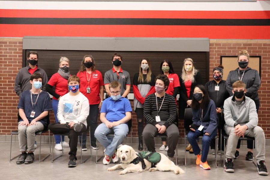 Coppell High School special education students and faculty are starting a coffee bar that will be located at the concession stand outside the cafeteria. The coffee bar will be open to CHS students and employees starting in January. Photo by Nandini Muresh
