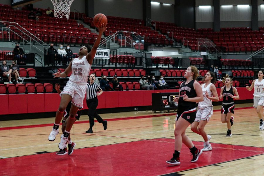 Coppell varsity junior small forward India Howard shoots against Colleyville Heritage at the CHS Arena on Friday. The Cowgirls defeated the Panthers 66-46.