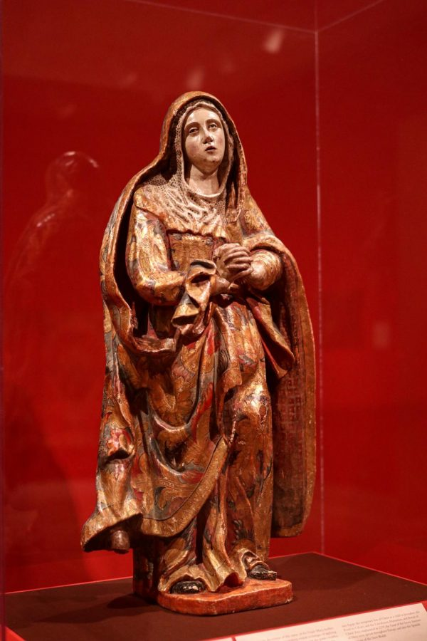 """""""The Virgin of Sorrows"""" or """"La Dolorosa""""  by an unknown artist is located in the Latin American Art section of the Dallas Museum of Art on March 28. The DMA is open from 11 a.m. to 5 p.m. Sunday through Friday and 11 a.m. to 7 p.m. on Saturday."""