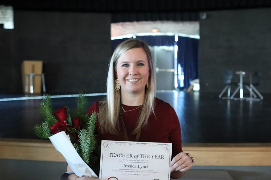 CHS9 ESL facilitator and English I teacher Jessica Lynch was named 2020-21 CHS9 Teacher of the Year on Thursday. Lynch won Teacher of the Year while CHS9 Spanish teacher and golf coach Jason Spoor and principles of health science teacher Bill Borowski were nominees.