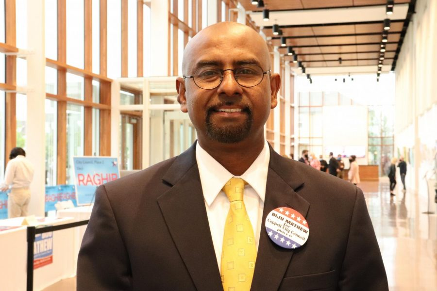 Coppell City Council Place 6 Biju Mathew is running for re-election. Mathew has lived in Coppell for 15 years and has served as a councilman since 2018.