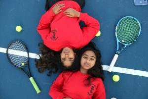 Coppell sophomore Lakshana Parasuraman and junior Nandini Thallapareddy have been friends since Parasuraman was in sixth grade. The Coppell tennis doubles partners have developed a tight knit sisterlike bond ever since.