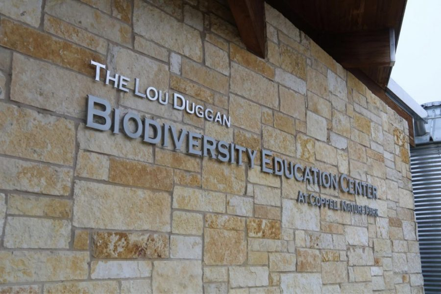Lou Duggan was the executive director of the Coppell Nature Park before retiring last year. Duggan spent 20 years gathering volunteers and spreading his vision to form the Coppell Nature Park and the Biodiversity Education Center. His name was added to the building in honor of his contributions.