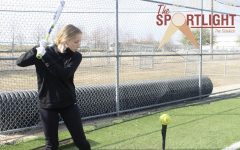 Coppell center fielder/third baseman sophomore Jordyn Ashby practices her swing at Lesley Field on Feb. 8. Ashby made a return to softball after taking a break to focus more on volleyball.