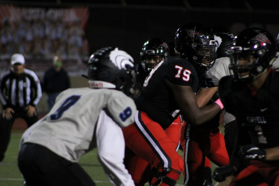 Coppell junior defensive tackle Alvin Ebosele was unanimously chosen for the first team offense All-District 6-6A team.
