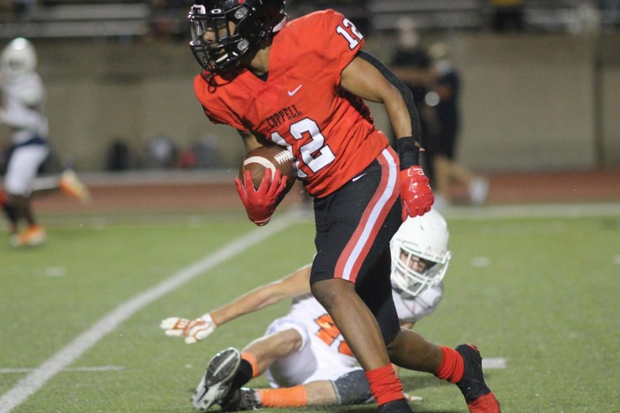 Coppell junior wide receiver Dylan Nelson received an honorable mention for offense in All-District 6-6A.